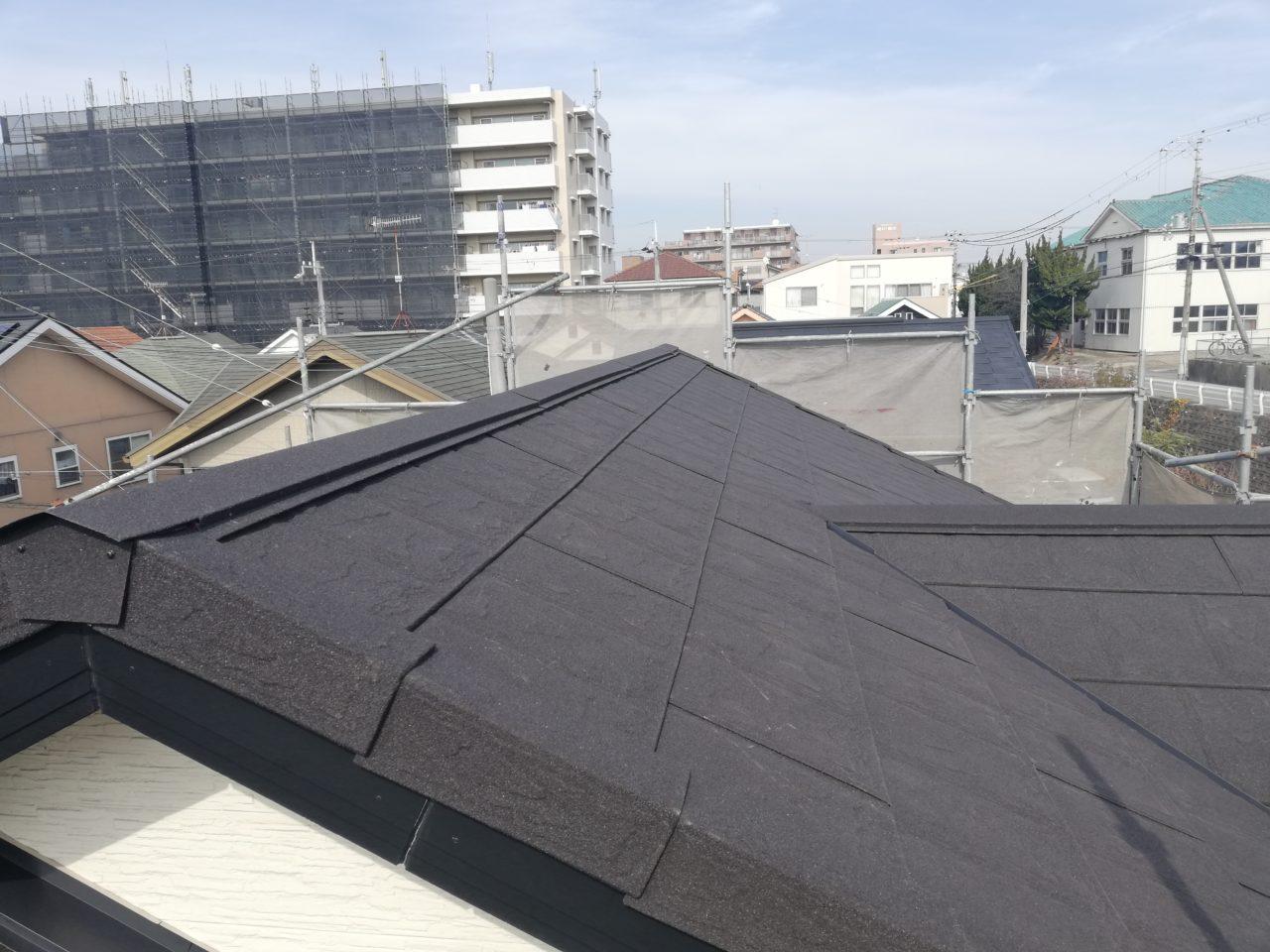 石付板金の屋根