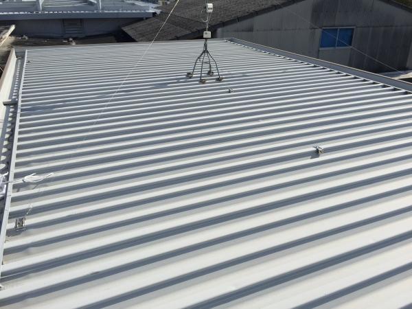 立平屋根塗装前