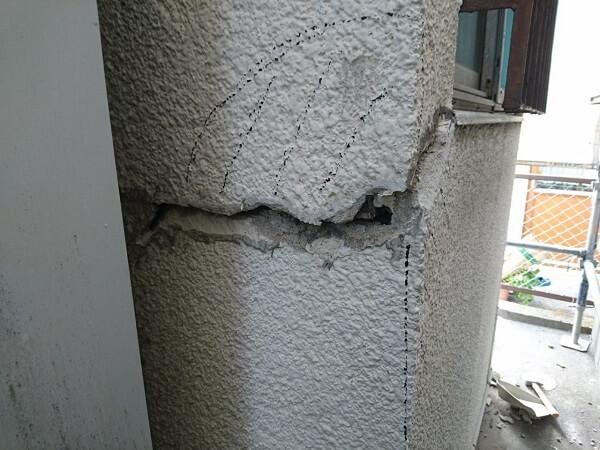 外壁劣化部分