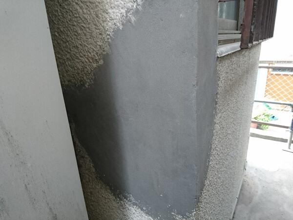 外壁断裂部補修