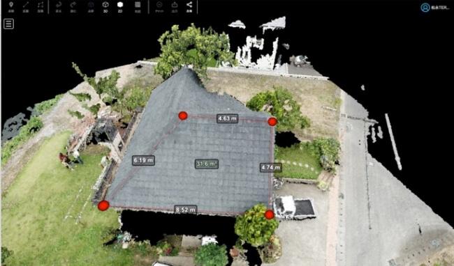 屋根面積自動計算
