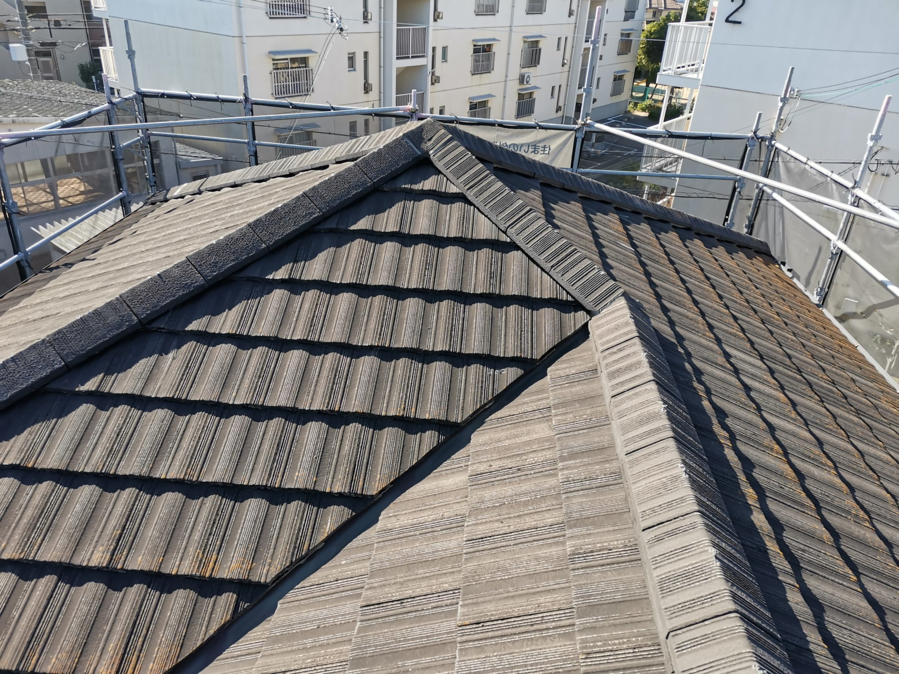 工事前に屋根もしっかり点検します